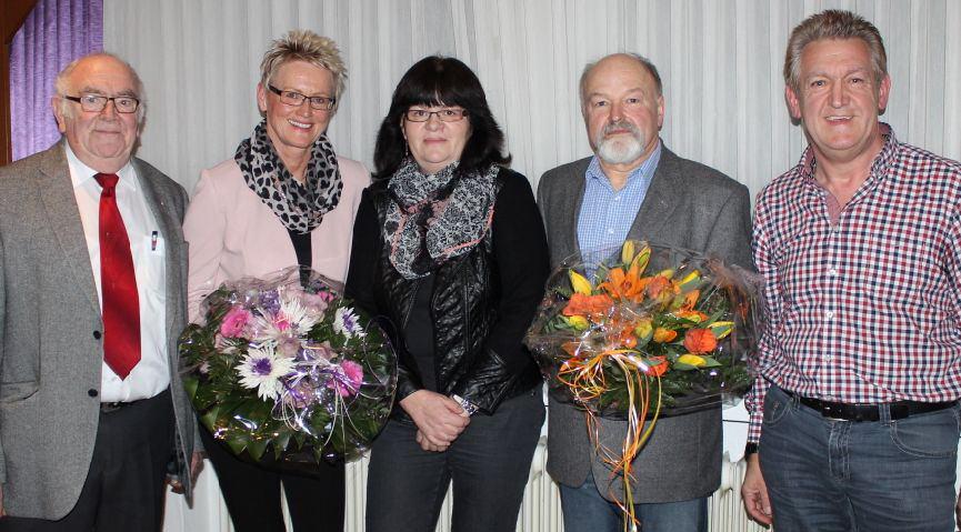 Der Vorstand der BSG: von links Walter Sinzig (2. Vorsitzender), Dorothee Podransky (Ehrenvorsitzende), Ulla Luke (Schatzmeisterin), Werner Hoffmann (Vorsitzender) und Peter Höniger (stellvertretender Vorsitzender)